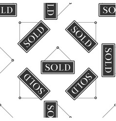 Sold sign seamless pattern sold sticker vector