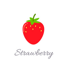 strawberry icon with title vector image