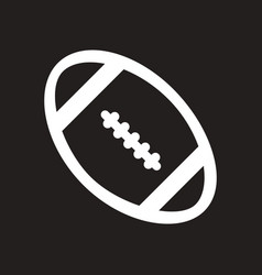 Stylish black and white icon american rugby ball vector
