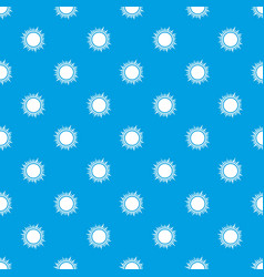 Sun pattern seamless blue vector