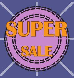 super sale background vector image