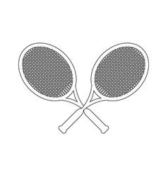 Tennis rackets sport game vector