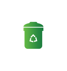 trash bin logo design template vector image
