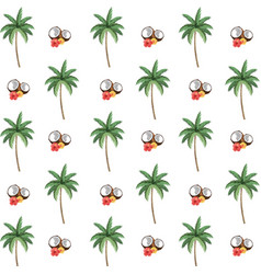 tropical coconut cartoon vector image