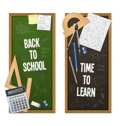Vertical Banners Mathematic Science vector