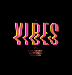 Vibes font modern colorful style vector