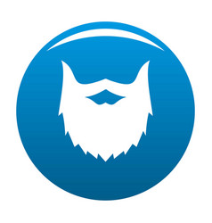 Villainous beard icon blue vector