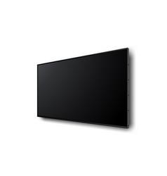wall wide television screen mockup vector image