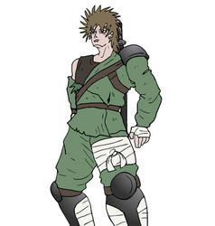Warrior draw vector
