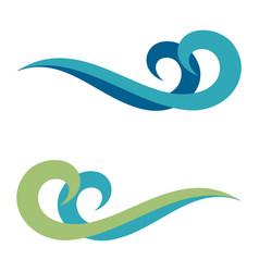 water wave swirl logo template vector image