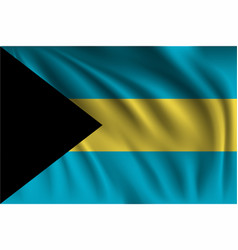 Waving bahamas vector