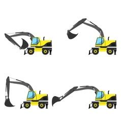 Wheel excavator vector image vector image