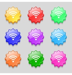 Wifi sign Wi-fi symbol Wireless Network icon zone vector image