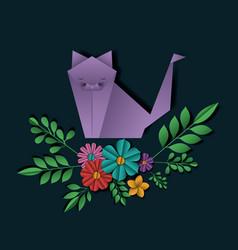 Wild life digital crafts in floral decoration vector