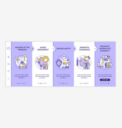 workplace discrimination onboarding template vector image