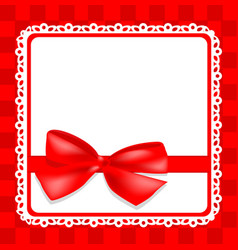 delicate card with bow vector image