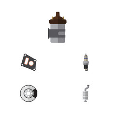 flat parts set of absorber spare parts metal and vector image vector image