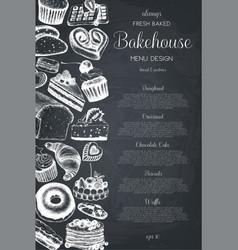 hand drawn baking design vector image