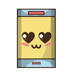 kawaii cute tender smartphone technology vector image vector image