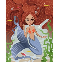 Mermaid Siren of the Sea vector image