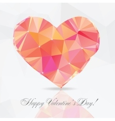 Polygon Heart - vector image vector image