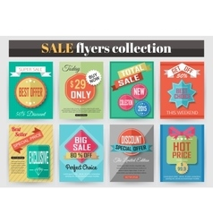 Set of colorful Sale flyers Best creative design vector image