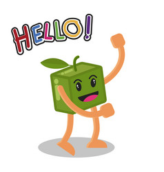 smiling mango fruit cartoon mascot character vector image