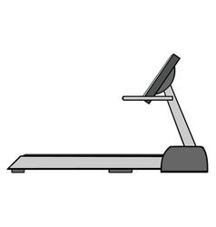 cartoon of empty treadmill vector image