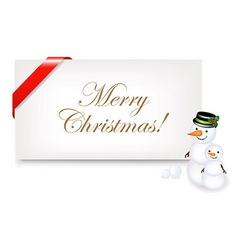 Christmas Blank Gift Tag vector image vector image