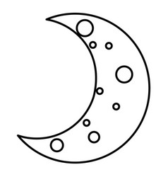 moon night isolated icon vector image