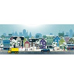 snow City vector image
