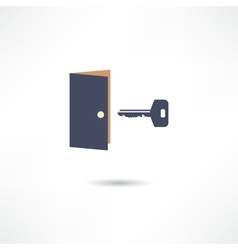 The door and the key vector image