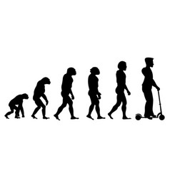 theory evolution of human from monkey to man on vector image
