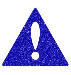 warning icon grunge watermark vector image