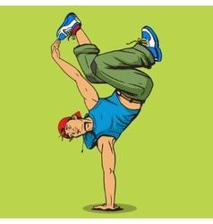 Breakdancer pop art style vector image