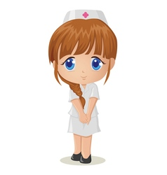 Cute cartoon of a nurse vector image vector image