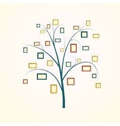 Family tree design vector image