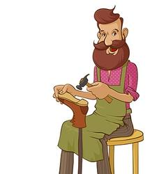 shoemaker vector image vector image