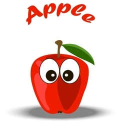 trendy red apple vector image