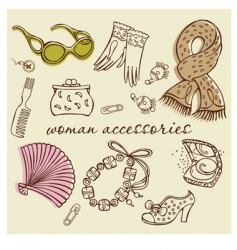 woman accessories vector image vector image
