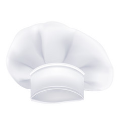 photorealistic white chef or cook or bakers hat vector image