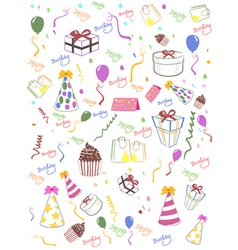Seamless happy birthday background vector image