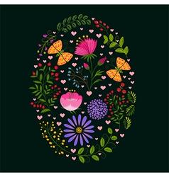 Springtime colorful flower easter holiday backgrou vector
