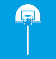 street basketball hoop icon white vector image