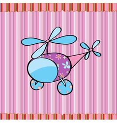 striped helicopter background vector image vector image