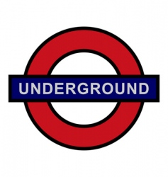 underground sign vector image vector image