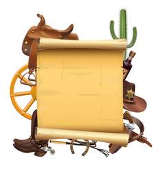 western scroll vector image