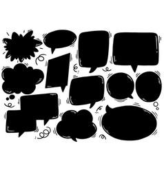 0012 hand drawn background set cute speech vector