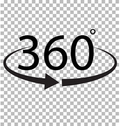 360 degree icon on transparent background 360 vector