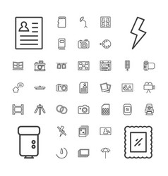 37 photo icons vector